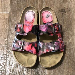 e11c778c8eb Two-strap Floral Sandals